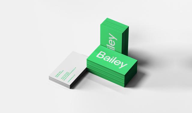 3 Business Card Stacks Mockup