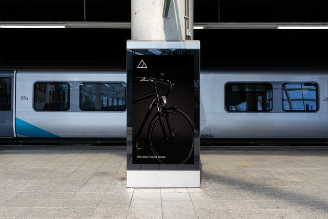Train digital poster